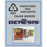 Pet Protector Cristalino Cajas Juego Sega Genesis Mega Drive