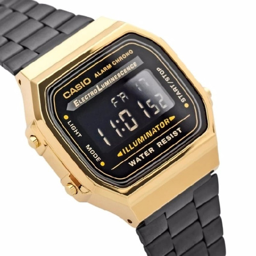 b538ccb5a794 Reloj Casio Negro Dorado Con Caja A168 Vintage Envio Gratis -   429 ...