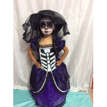 Padrisimo Disfraz De Catrina Calavera Incluye Sombrero