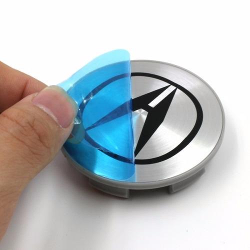 4x Centro Tapón De Rin Acura 69mm Color Plata - Envío Gratis Foto 3