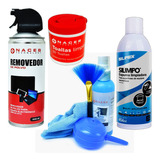 Set Limpieza Aire + Toallitas + Limpiador Pantallas + Espuma