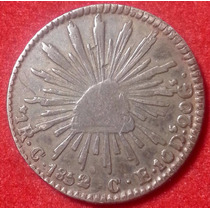 Moneda 1 Real Culiacán 1852/1 C E Águila Mexicana Escasa