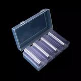 Caja Plástica + 60 Capsulas 41mm Para Onza Libertad De 40mm
