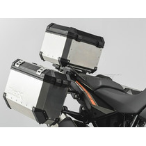 Ktm Maleta Lateral Aluminio Sw Motech Kit Laterales Negra