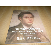 Vendo Libro Partituras De Bela Bartok Trabajos Para Piano
