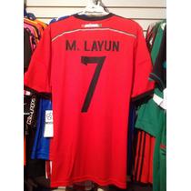 Playera De Mexico Mundial 2014 Con Nombre De Miguel Layun