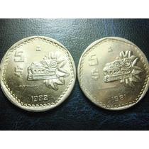 5 Pesos Quetzalcoatl Niquel Condicion Usado