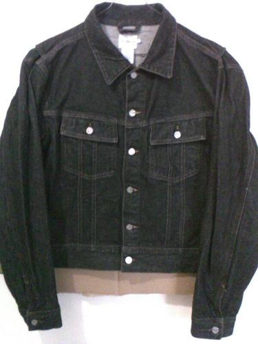 fc1cf94ae2 Chamarra Mezclilla Color Negra Marca Calvin Klein De Hombre. en ...