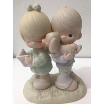 Precious Moments Porcelana Niños Con Perrito