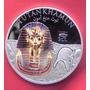 Medalla 1 Dolar Islas Del Hombre Tutankhamun Plata