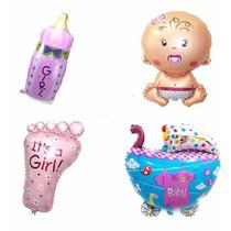 Paquete De 10 Globos Metalicos Baby Shower 24 Fiestas Bebé