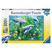 Puzzle Ravensburger 100 Piezas Delfines Peces Océano 10605