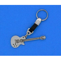 Llavero De Guitarra Tipo Les Piel