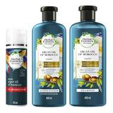Herbal Essences Argan Oil Shampoo + Acondicionador Y Crema