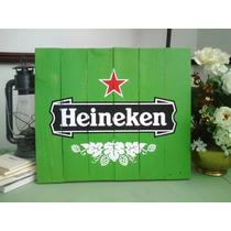 Anuncio Letrero Vintage Antiguo Cervezas Marcas Decorativo
