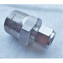 Conector Recto Macho Npt A Od Inox 1/4 Npt A 1/4 Od