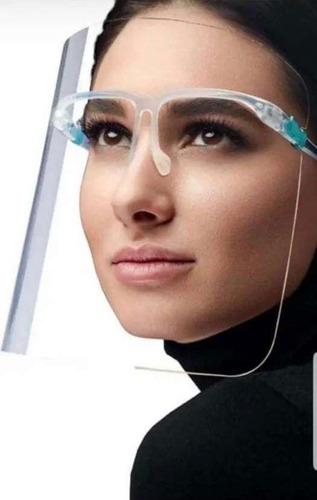 Careta Protectora Facial Soporte De Lentes 10pz
