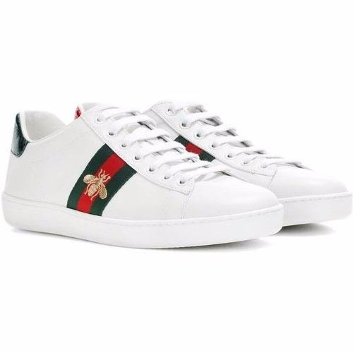 2e36f5917bd2a Sneakers Tenis Gucci. Flores Bee Envío Inmediato
