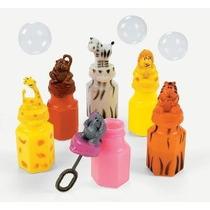 24 Zoo Animal Jungle Botellas Personajes Burbuja León Cebra