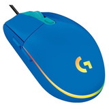 Mouse Logitech G203 Lightsync Rgb Optico Usb Azul Gaming