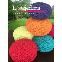 Hermoso Puff En Crochet En Trapillo 55 Diametro X 36 Alto