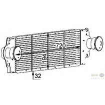 Enfriador Turbo Intercooler Cooler Vw Eurovan 1,9 Lts Diesel