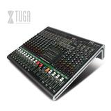 Xtuga Mrv12 Mezclador Dj Audio Profesional 12 Canales,estéreo Dsp ,bluetooth,usb, Eq, Efectos,48v Phantom Power