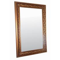 Espejo Lujo Dorado 110 X 70 Cm Marco Clasico