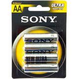 Pilas Baterias Sony Aa Blister 4 Pzas. 1.5v Ultra Heavy Duty