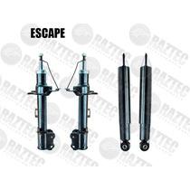 Kit Amortiguadores Escape 01-12 Gas Traseros Y Delanteros