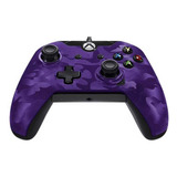 Control Joystick Pdp Xbox One Wired Controller Purple Camo