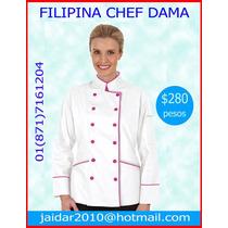 Filipina Chef,overol Menonita,mandil Educadora Fulanitos Op4