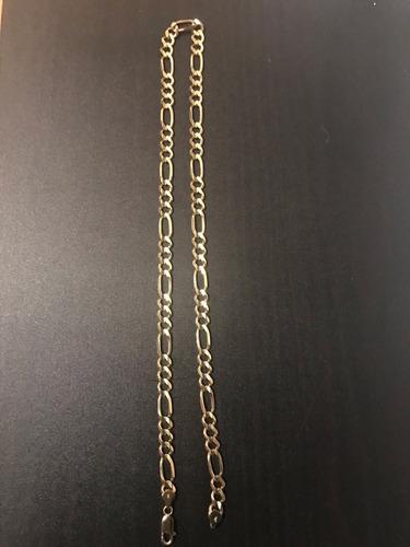 5760a8150b42 Cadena De Oro Tipo Cartier 10k Y Dije De Oro 14k