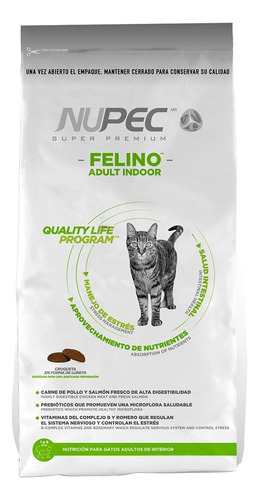 Alimento Nupec Indoor Gato Adulto Mix 3kg