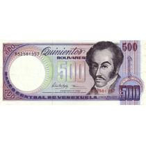 Grr-billete De Venezuela 500 Bolívares 1990-1998, Orquídeas!