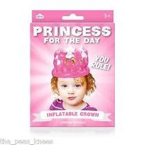 Corona Inflable - Girls Princess Para El Día De Cumpleaños