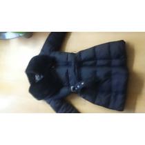 Hermoso Abrigo Impermeable Nuevo Negro Chamarra Capitonado