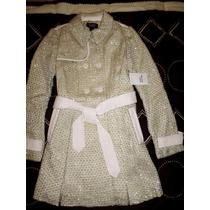 Abrigo Lana Trench Coat Victoria Secret Talla Ch,med,l
