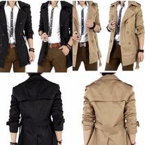 Sacos Gabardinas Slim Fit Para Hombre Moda Japonesa 1 Dia!