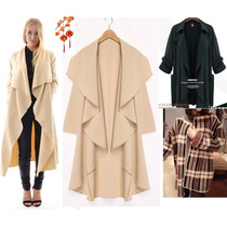 Moda Japonesa Asi Oriental Abrigo Hodie Poncho Gabardin S Xl