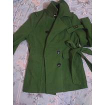 Limpia De Clset Gabardina Abrigo Verde Talla G
