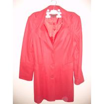 Abrigo Para Dama Talla M Color Rojo Nuevo