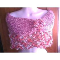 Capa Mañanita Poncho Tejido Crochet