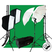 Kit Estudio Fotografía Porta Fondos Tripies Sombrillas Video