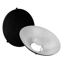 Beauty Dish Blanco Con Panal P/ Estudio Nuevo Envio Gratis
