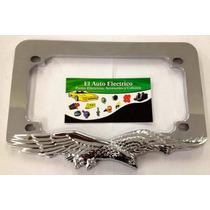 Porta Placa Motos Universal Metal Cromado
