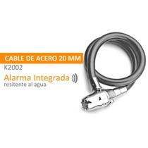 Candado Con Alarma Integrada Cable 12 Mm