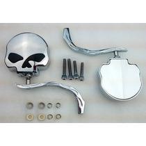 Espejos Skull Para Harley Davidson