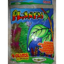 Planta Artificial Acuario 6pzas 30cm C/u Agua Dulce/salada