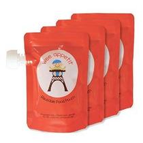 Reutilizable Alimentos Bolsa (paquete De 4) - Smart Design M